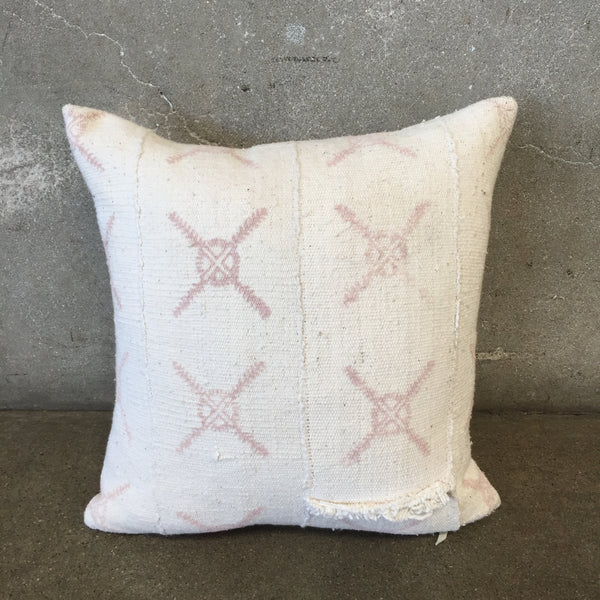 Vintage Square Hand Block Printed Mud Cloth Pillow