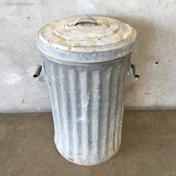 Vintage Metal Garbage Can