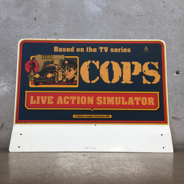 Simulator Metal Sign Original From Atari 1994 Arcade Game