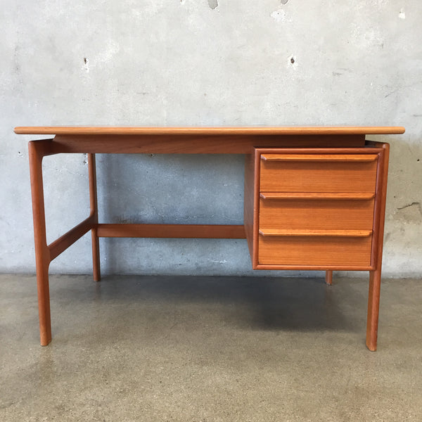 Mid Century Danish Floating Teak Desk