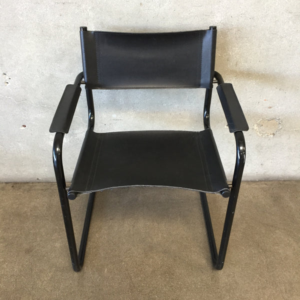 Black Leather Modern Chair