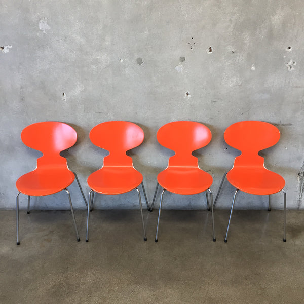 Set of Four Arne Jacobsen Fritz Hansen Chairs