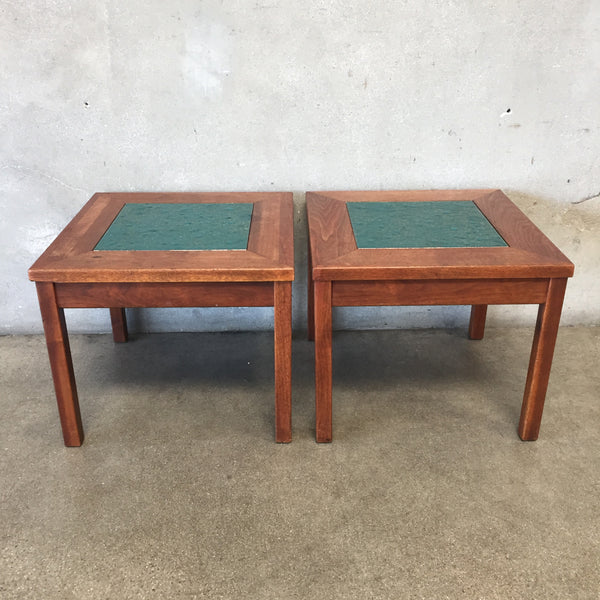 Mid Century Brown Saltman End Tables