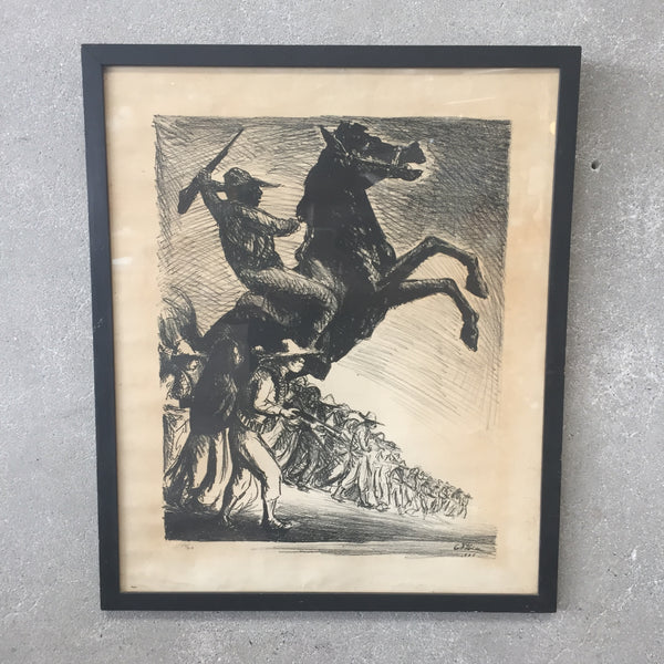 1955 Mexican Revolution Lithograph