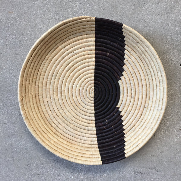 Stripe Tray African Basket
