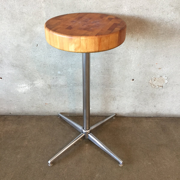 Vintage 1960's small Butcher Block Table