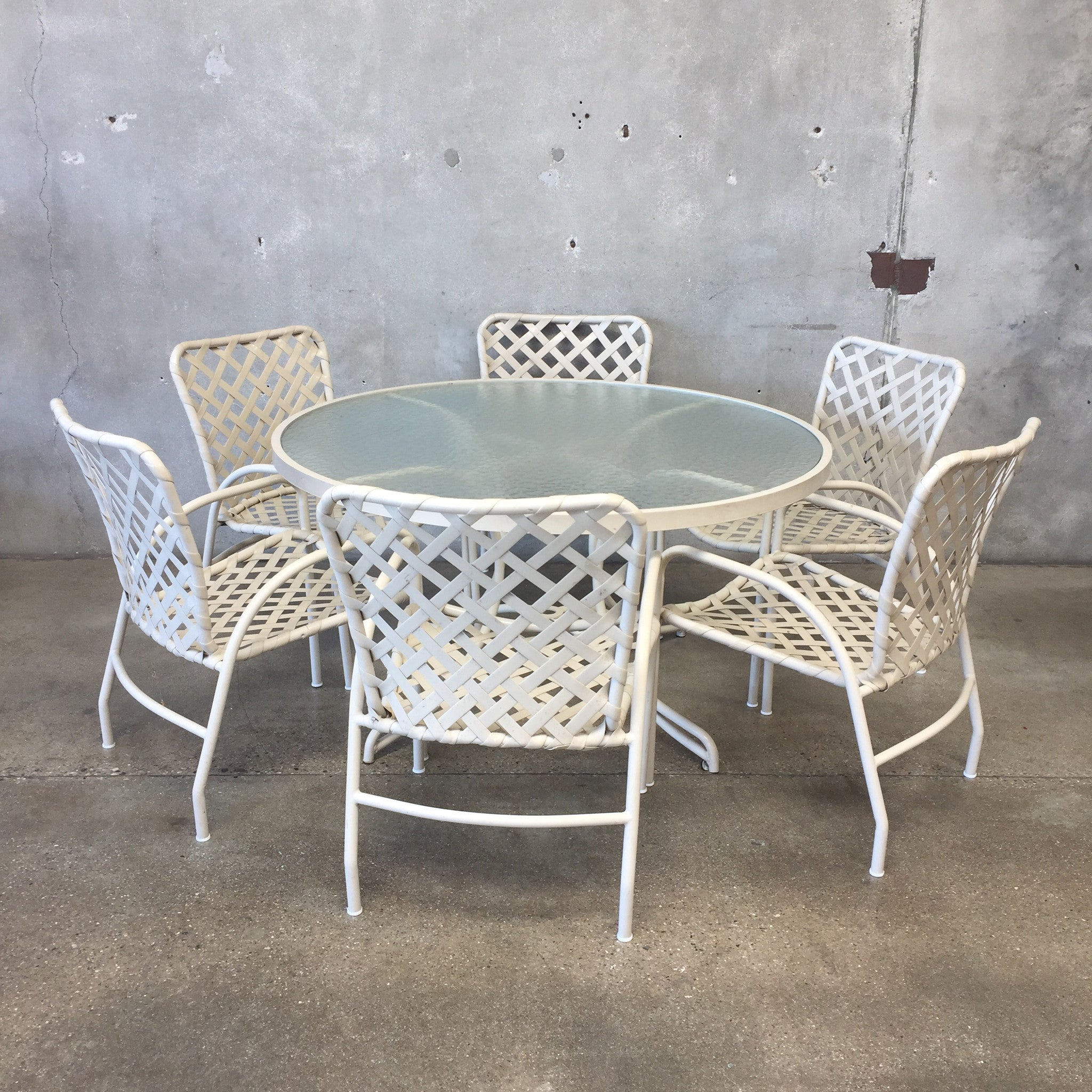 Vintage Brown Jordan Patio Dining Set ...