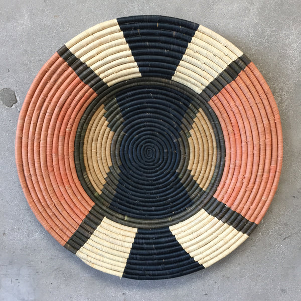 African Raffia Plate Extra Large
