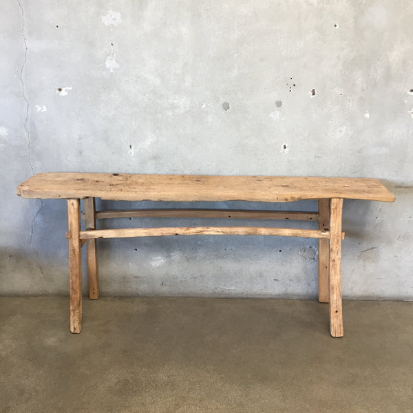Large Rustic Elm Console Table