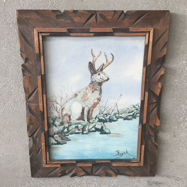Jackalope Watercolor Painting