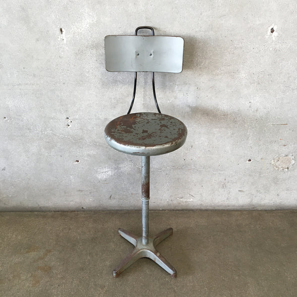 Vintage Industrial Adjustable Stool