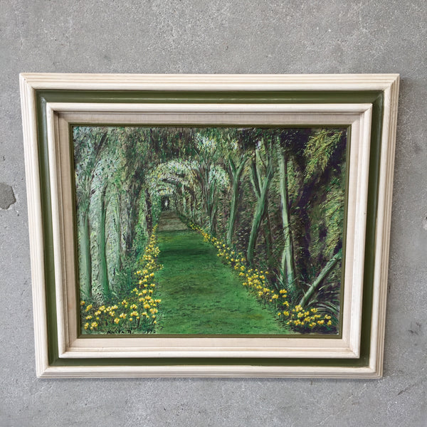 Vintage Green Path Painting