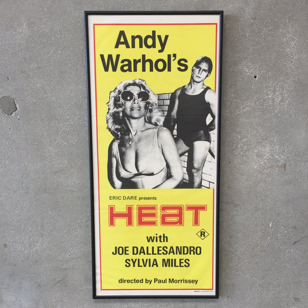 1972 Original Andy Warhol's HEAT Movie Posters