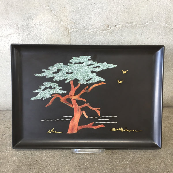 "Vintage ""Monterey Tree"" Couroc Tray"