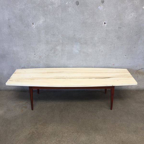 Mid Century Lane Faux Marble Coffee Table