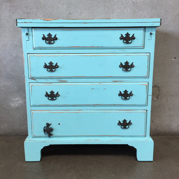 Vintage Hand Painted Early American Four Drawer Dresser