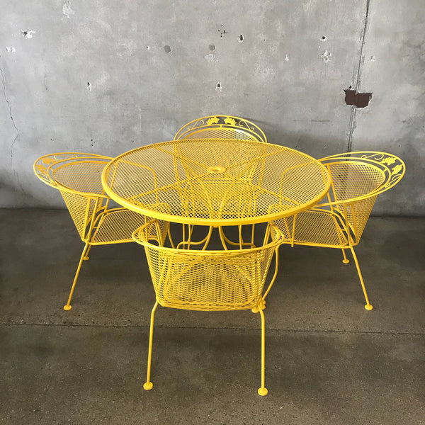 Mid Century Modern Yellow Salterini Patio Set