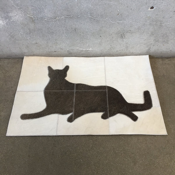 New Cowhide Cat Mat
