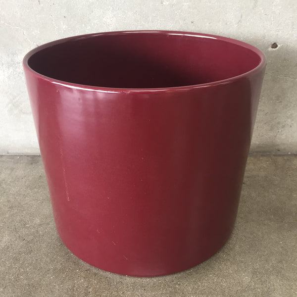 Vintage Burgundy Gainey Flower Pot