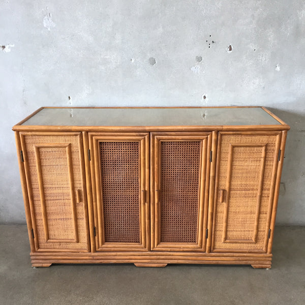 Vintage Buffet with Glass Top