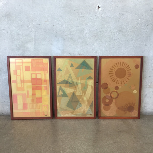 Three Piece Mid Century Wall Art