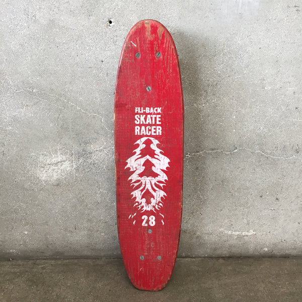 Vintage Red Fli-Back Skate Racer 28 Skateboard