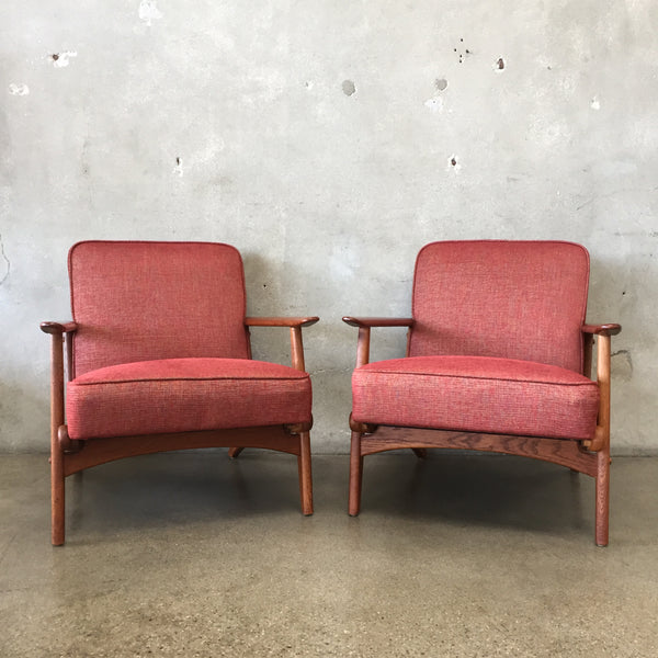 1960's Danish Modern Teak Lounge Chairs