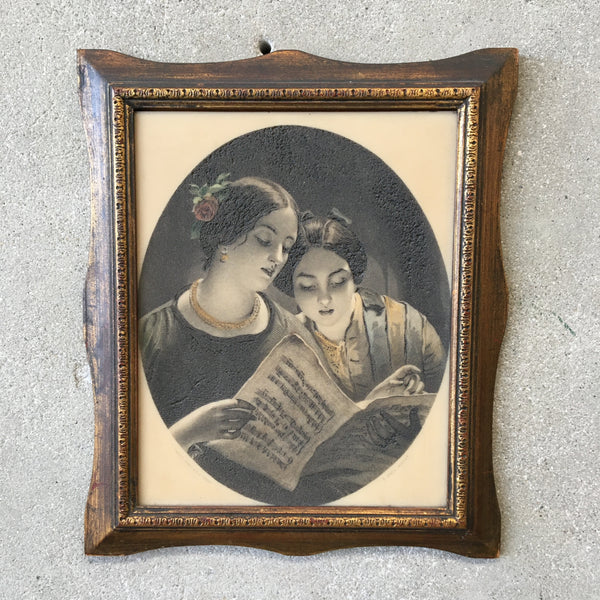 Vintage Lithophane Porcelain Etching By James Sant, The Duet