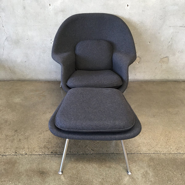 Mid Century Style Womb Chair with Ottoman