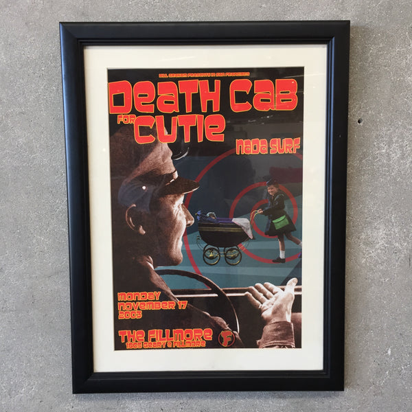Death Cab for Cutie / Fillmore 2003 Framed Poster