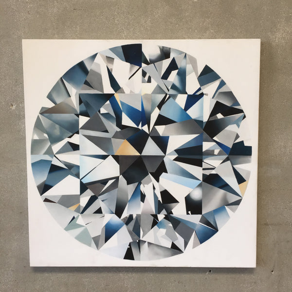 Large Blue Diamond Acrylic Art Work