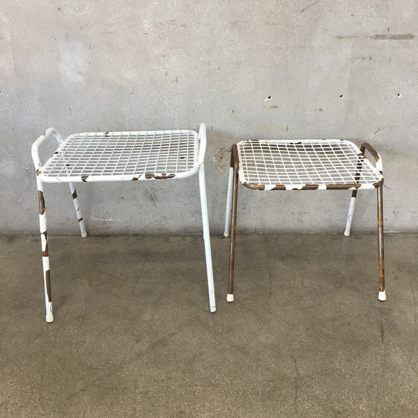 1950's Metal Patio End Tables