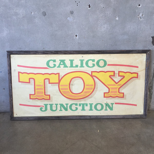 Vintage Calico Junction Toy Sign