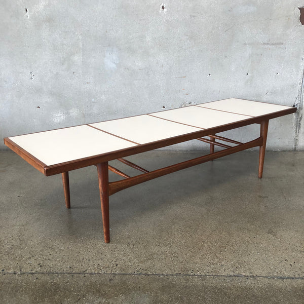 Mid Century Walnut And laminate Coffee Table