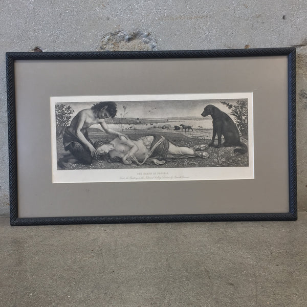 "Framed ""Death of Procris"" Print"