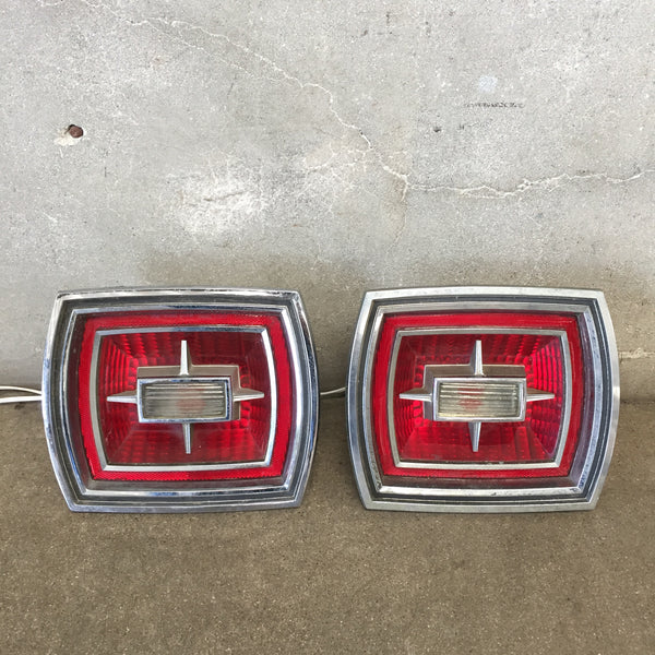 Vintage Car Tail Lights Set of Two