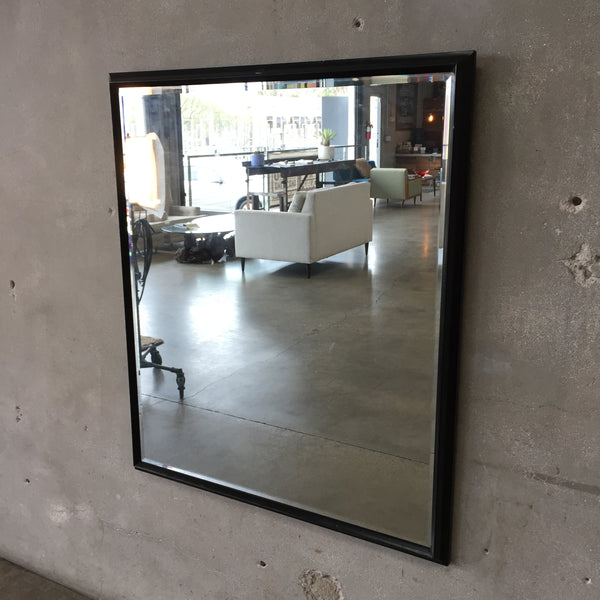 Vintage Black Frame Beveled Mirror
