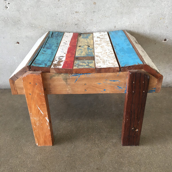 Reclaimed Teak Side Table From Boats