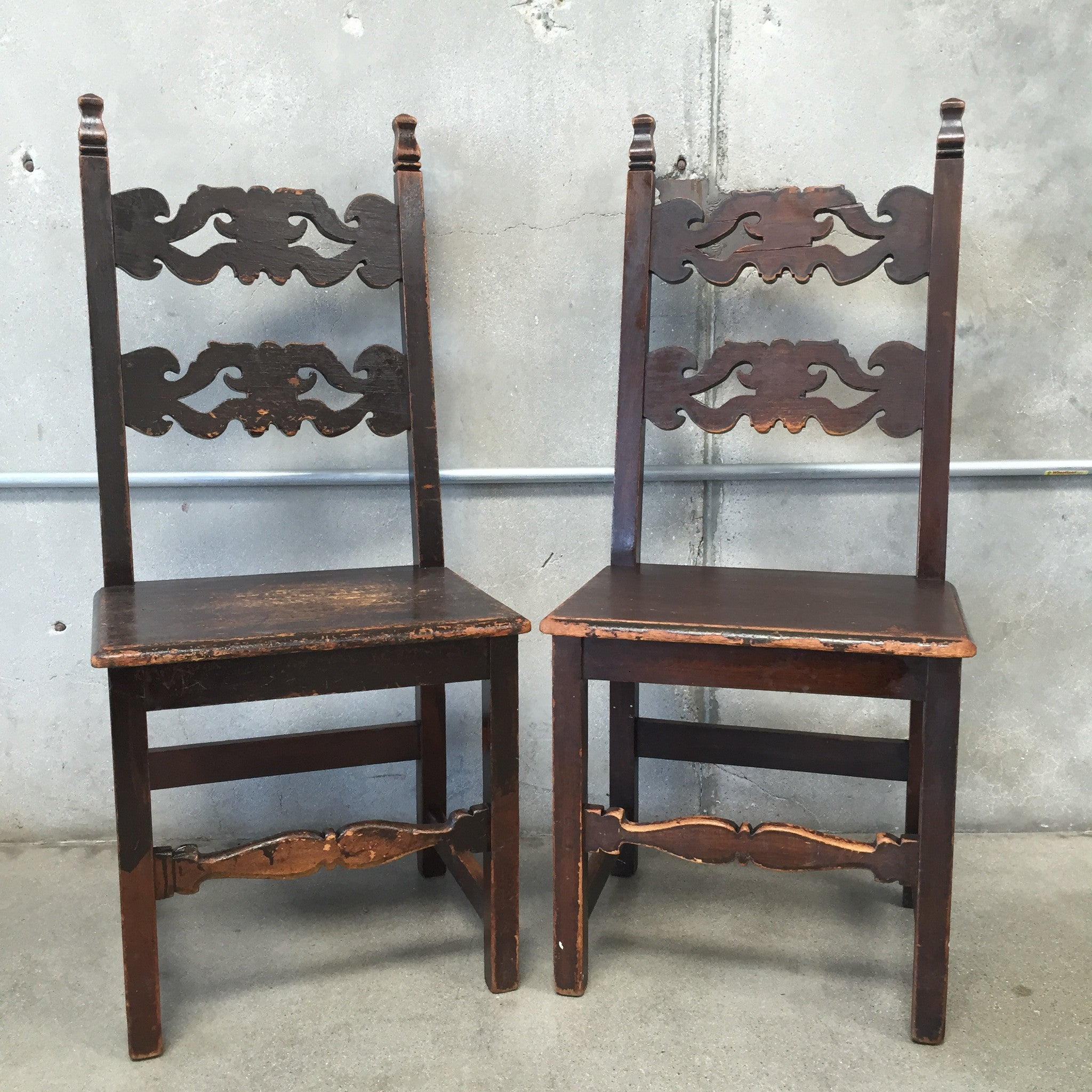 Pair of Spanish Revival Dining Chairs – UrbanAmericana