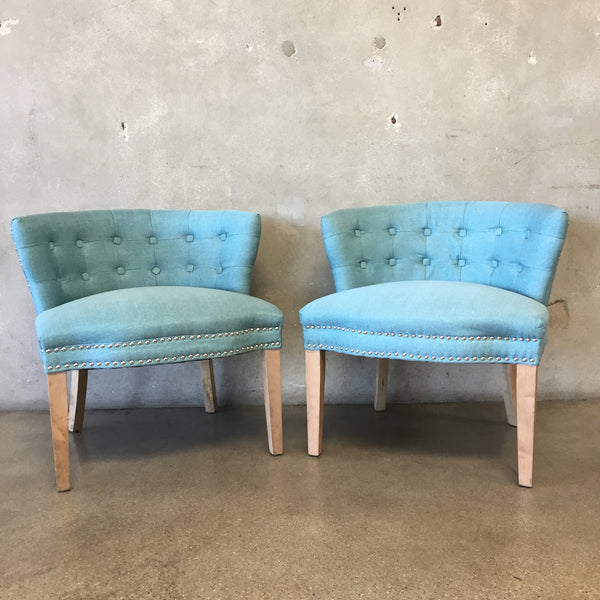 Pair of Mid Century Style Occasional Chairs