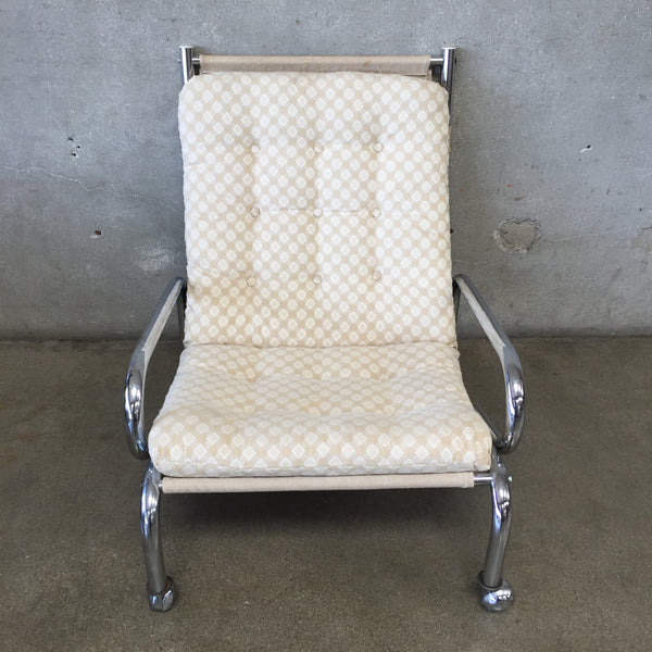 Chrome 1980's Lounge Chair
