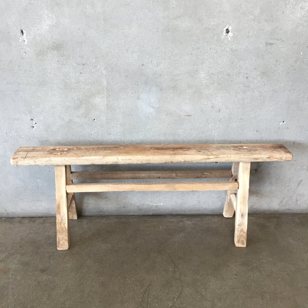 Rustic Narrow Wood Bench