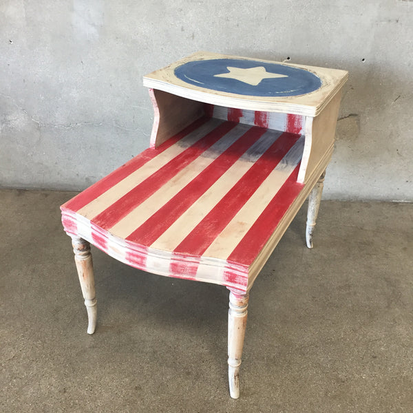 Repurposed Hand Painted Side Table