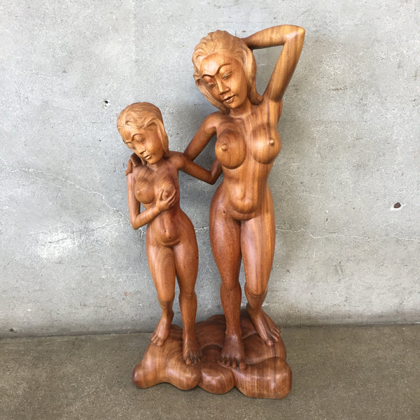 Vintage Nudes Wood Sculpture