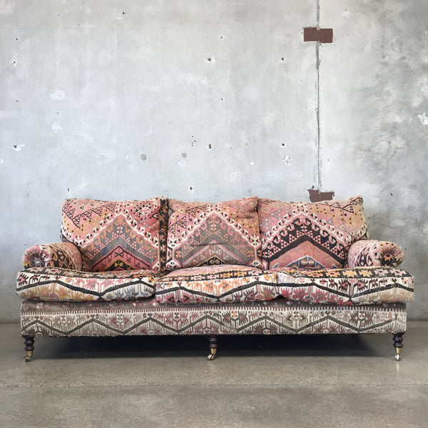 George Smith Kilim Upholstered Sofa