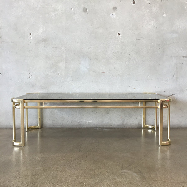Vintage Morex Glass Coffee Table by Milo Baughman