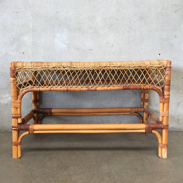Vintage Rattan/Wicker Bench