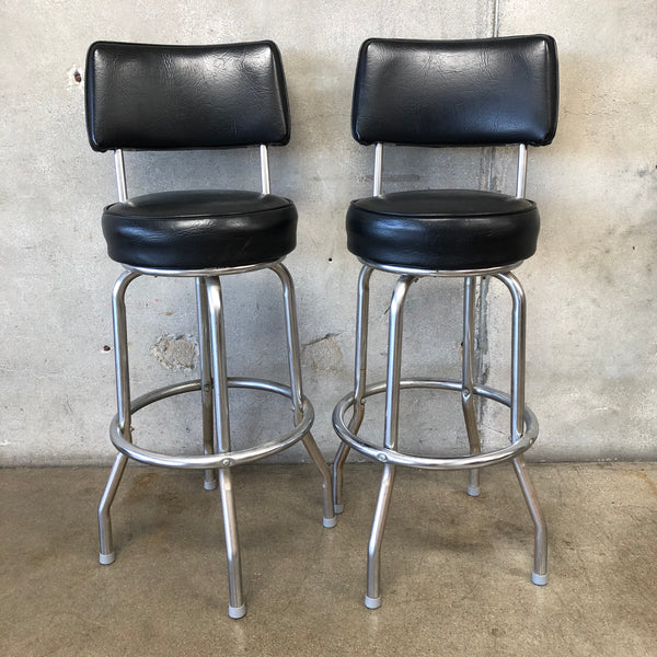 Set of Chrome Mid Century Diner Stools