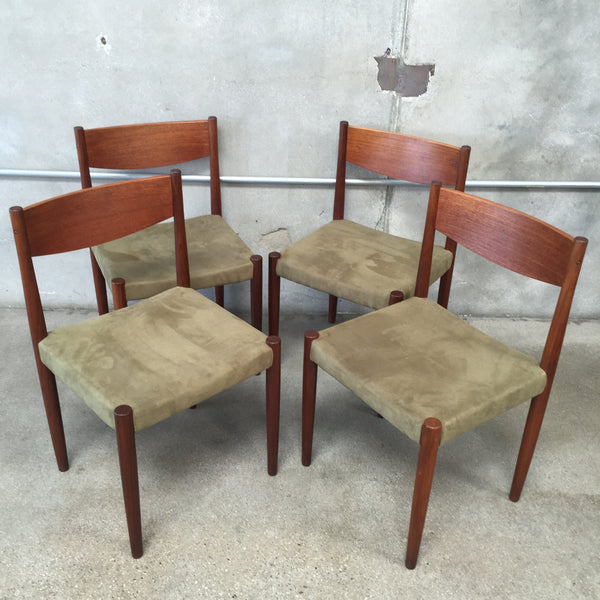 4 Danish Modern Dining chairs by Poul Vother for Frem Rojle