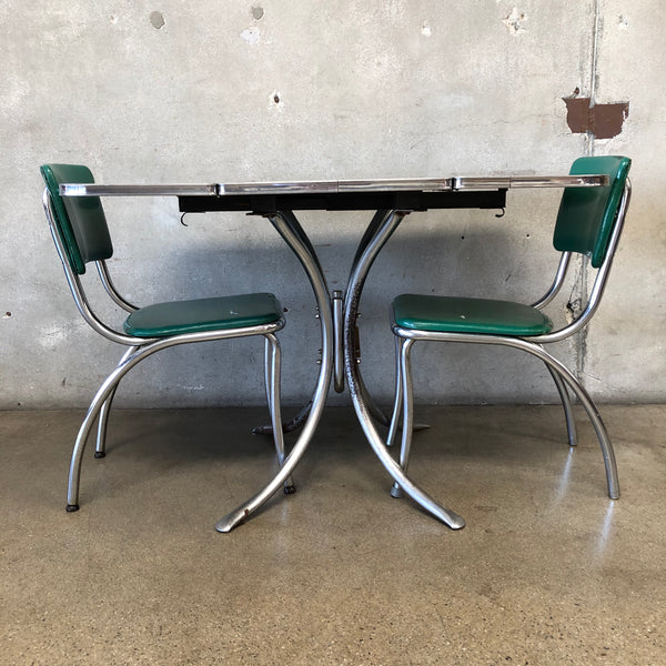 Mid Century Chrome & Formica Dinette Set & Chairs